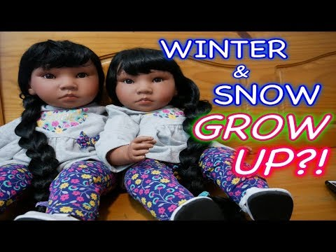 Silicone Baby Winter & Snow Grow Up into Reborn Toddlers!