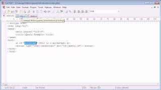 jQuery Tutorial - 5 - Inline/External Scripting