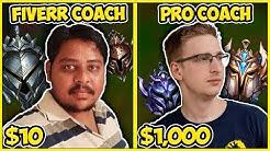 $10 LOL COACHING VS. $1,000 LOL COACHING (FIVERR VS. FOGGEDFTW2) - League of Legends