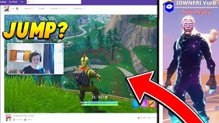 I gave a Twitch STREAMER a GALAXY SKIN if they JUMPED off the MAP! (Fortnite Battle Royale)