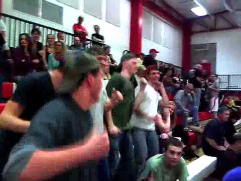 Enthusiasm at the first night of basket ball, new school, Eureka Springs High School, Arkansas!