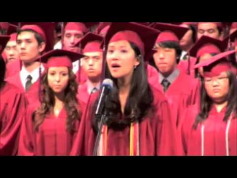Cilla Chan (aka Priscilla Chan) National Anthem for Singapore American  School Class of 2009