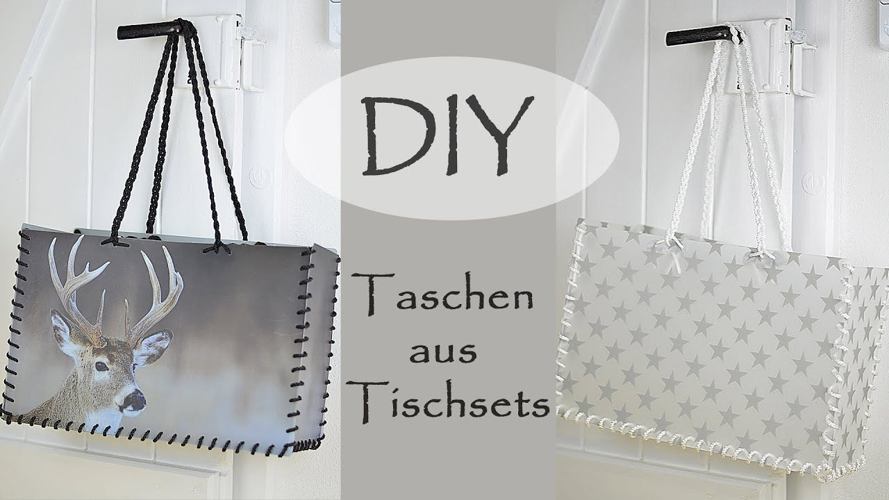 diy taschen aus tischsets stylisch praktisch und robust youtube. Black Bedroom Furniture Sets. Home Design Ideas