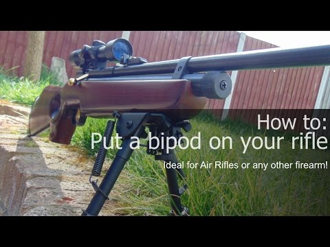 HOW TO: Put A Bipod On Your Rifle/air Rifle (EASY Instructions)