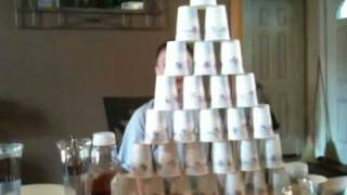 World record cup stack- 24 cups- 0.16 seconds
