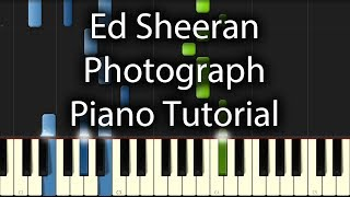 Ed Sheeran - Photograph Tutorial (How To Play on Piano)