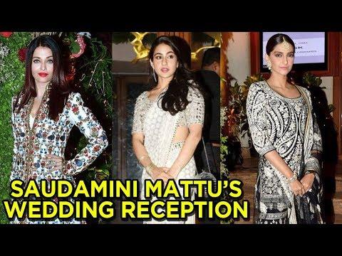Sonam Kapoor, Aishwarya Rai, Sara Ali Khan At Saudamini Mattu's Wedding Reception Mp3