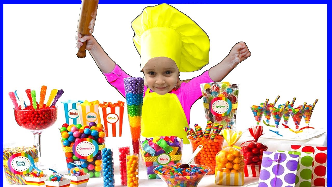 🍓🍌🍎Alisa helps mom cooking  Sweet Chocolate Dish For Kids!