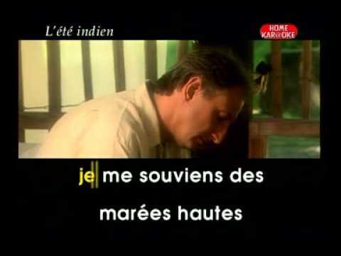 Karaoke Francais   Joe Dassin   L'été Indien