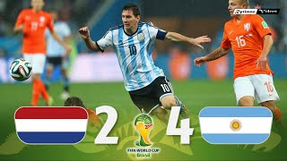 Netherlands 0 (2) x (4) 0 Argentina ● 2014 World Cup Semifinal Extended Goals & Highlights HD