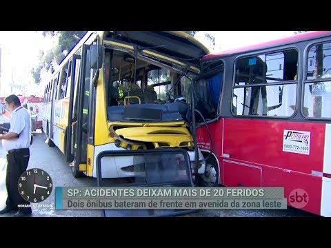 Ônibus envolvido em acidente estava na contramão, afirma passageira | Primeiro Impacto (13/03/18)