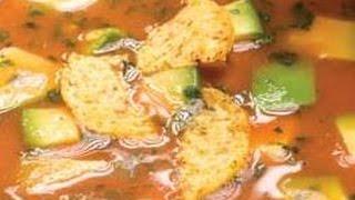 How To Prepare Avocado Tortilla Soup -  Healthy Food, Funny Hot Recipes,healthy Tips