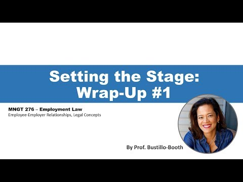 MNGT 276 - Employment Law: Wrap-Up 1 (W1-2)