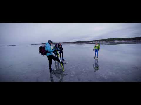 Skating on the sea ice of Northern Sweden