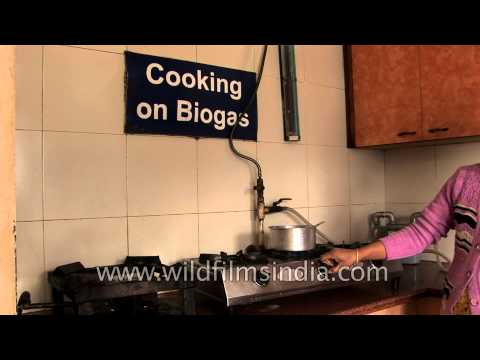 Cooking on biogas at Sulabh Museum of toilets, Delhi