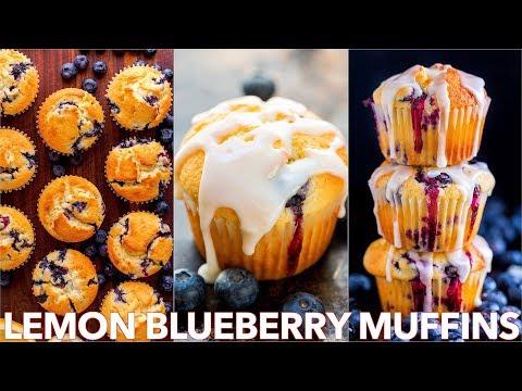 Blueberry Muffins Recipe With Lemon Glaze