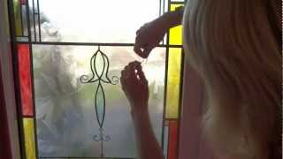 How to make leaded windows and stain glass easily and cheaply.
