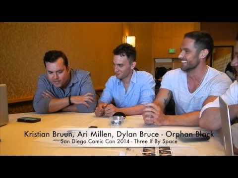 Comic Con 2014 Orphan Black  Kristian Bruun & Dylan Bruce