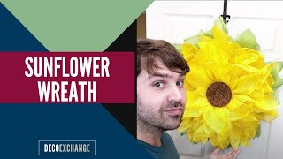 Sunflower Wreath | DIY Sunflower Wreath Tutorial