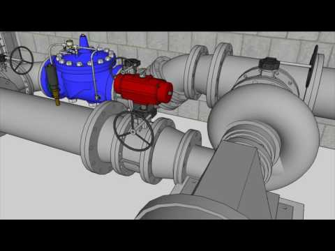 Rendering of Barre, VT electric generating turbine on water main