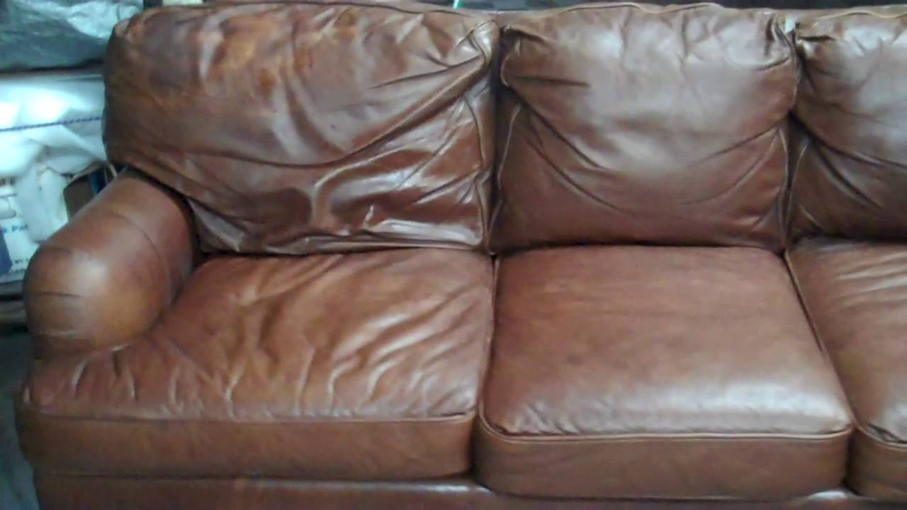 Aniline Leather Sofa Chair Ottoman Repair Restoration