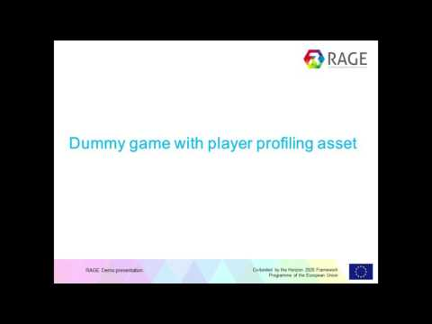 RAGE - TUGraz - Player Profiling Asset - HOW TO