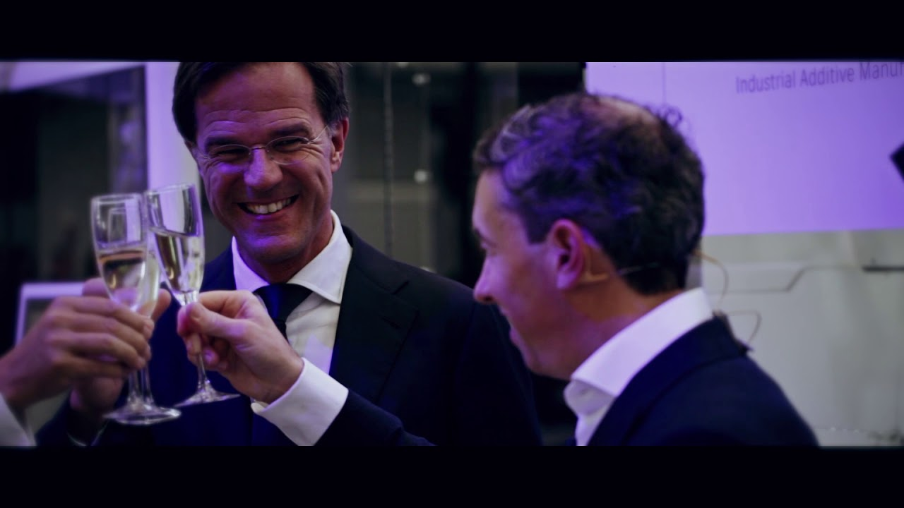 Grand Opening Additive Industries new factory by Dutch Prime Minister Mark Rutte