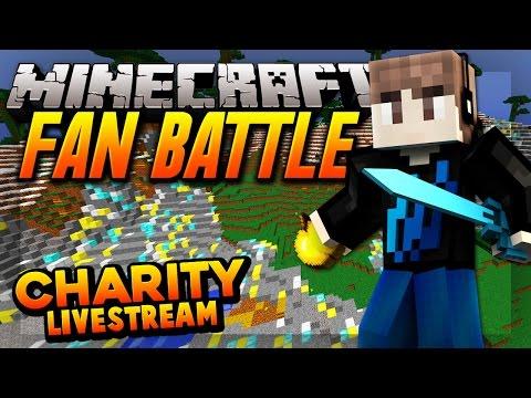 MINECRAFT FAN BATTLE     Minecraft Charity Livestream