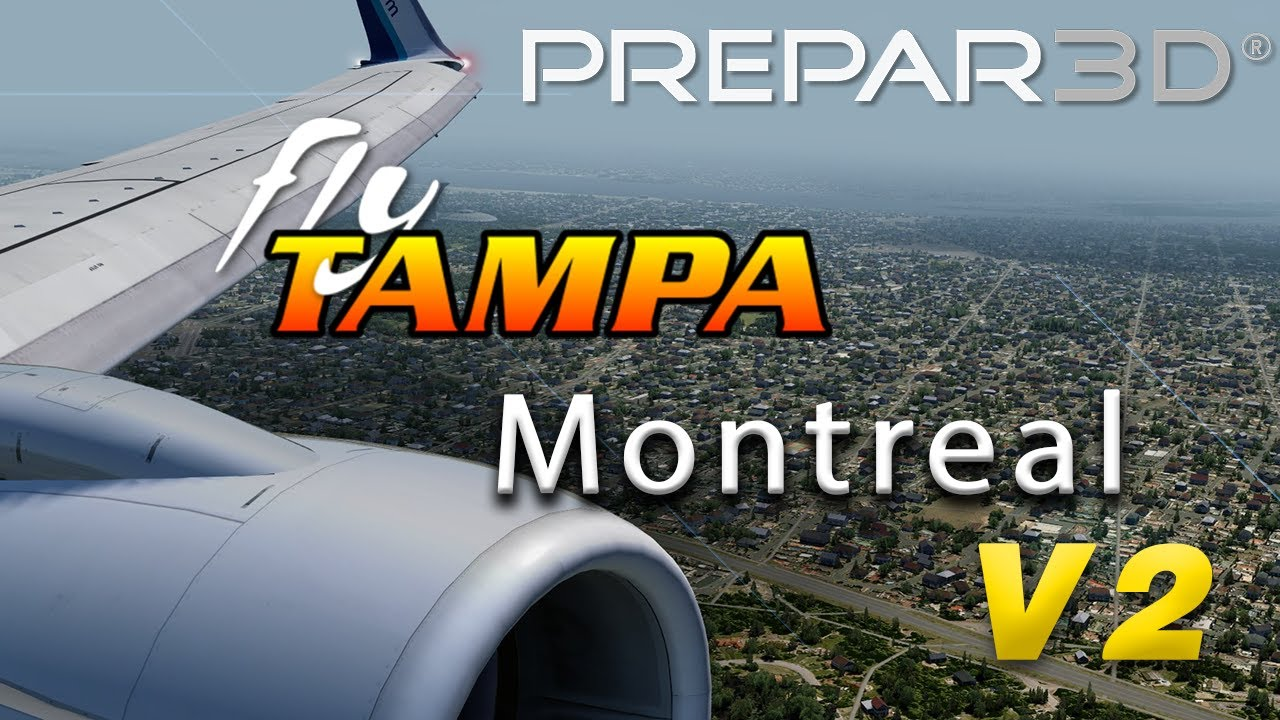 P3D V4   WestJet 737 Landing at NEW FlyTampa Montreal (i7 9700K + RTX 2070)