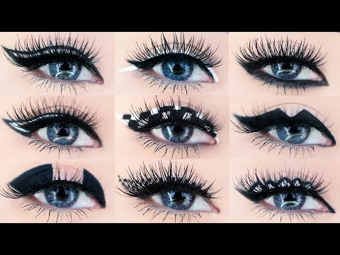 9 Different Eyeliner Looks Makeup Tutorial | AMP UP YOUR EYELINER ROUTINE!