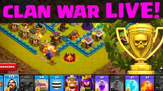 Clash of Clans - Nordic United Clan War - LIVE Attacking under Pressure!