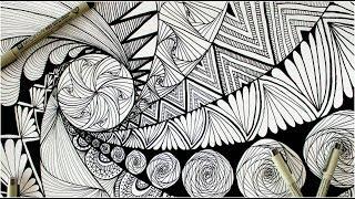 zentangle doodle zen patterns easy beginners andventure sculptures 3d