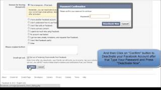 And How account facebook deactivate reactivate to
