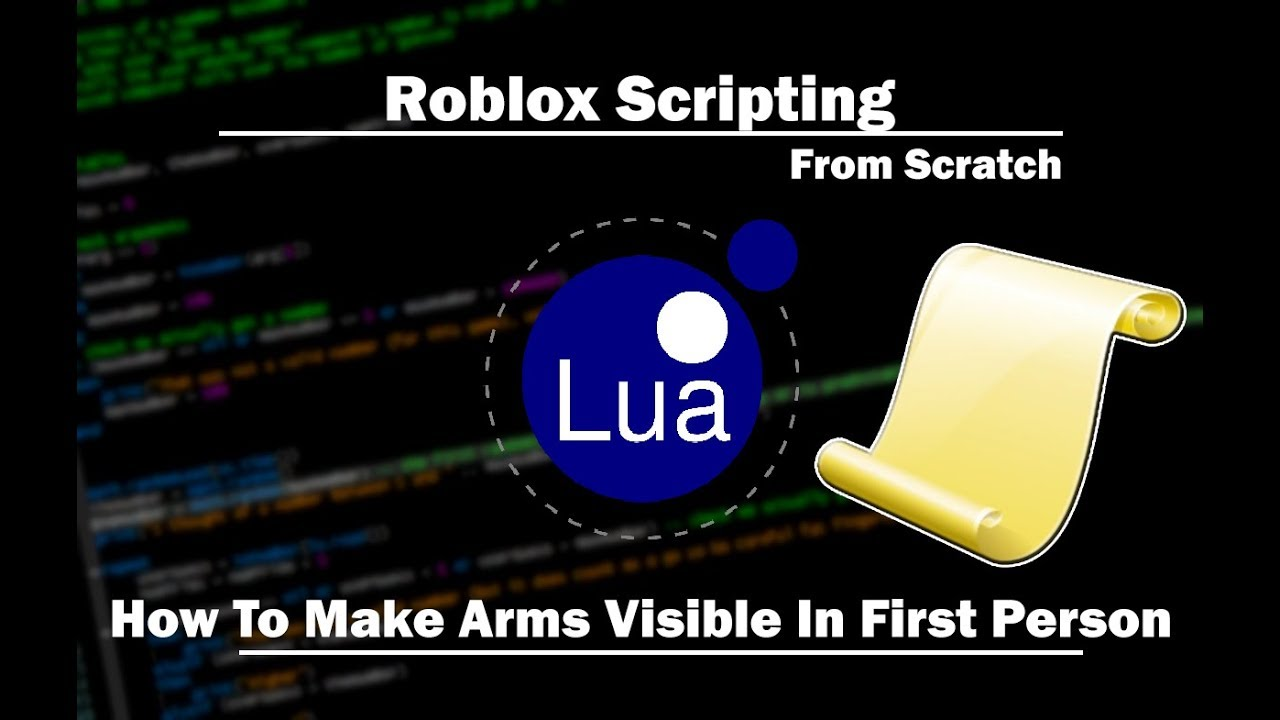 Roblox How To Make Arms Visible In First Person Youtube