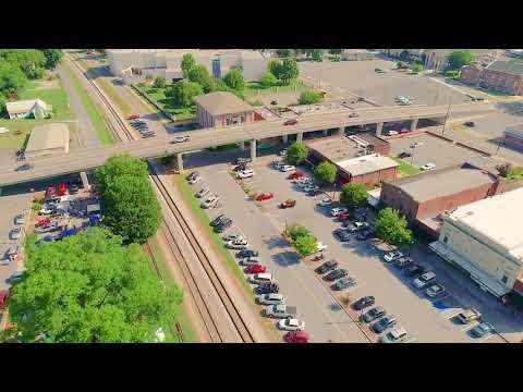 Drone video of Cartersville, GA