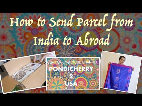 How to Send Parcel from India to Abroad //How to send international courier