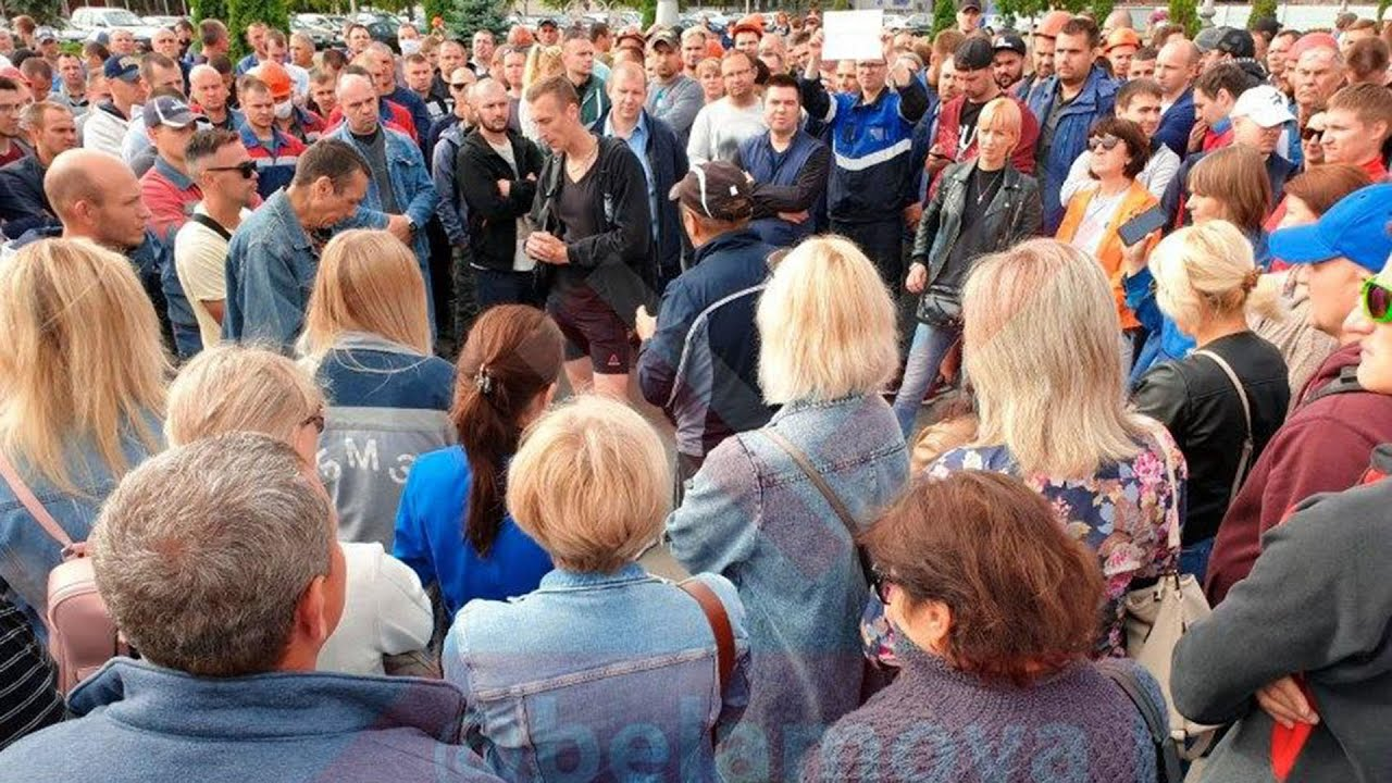 Все больше заводов и предприятий Белоруссии выходят на забастовку Протесты уже не остановить 14.08