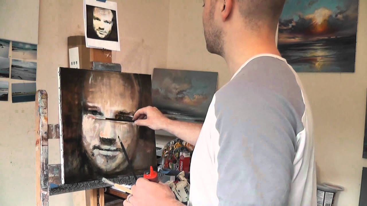 Oil painting tutorial layered glazing self portrait youtube baditri Image collections