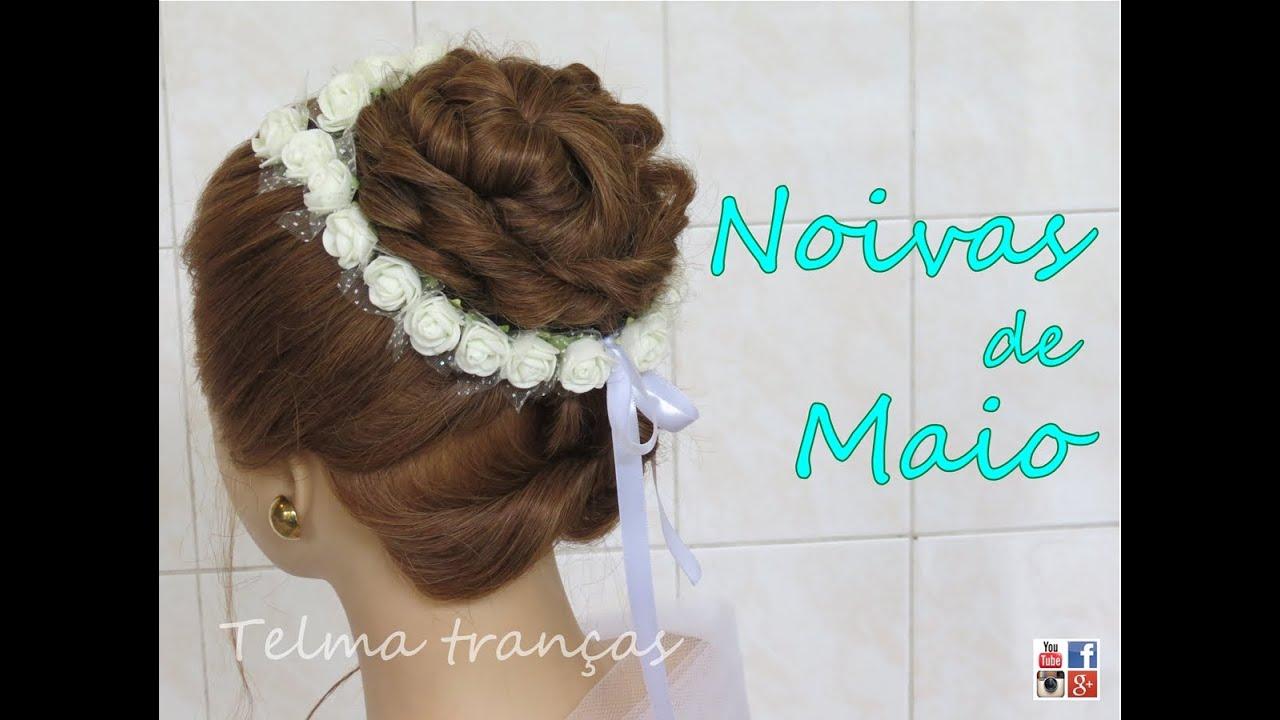Penteado Para Noivas E Daminhas Wedding Hairstyle Peinados Para Novias Telma Tranças