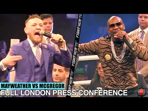 THE FULL FLOYD MAYWEATHER VS CONOR MCGREGOR LONDON PRESS CONFERENCE VIDEO
