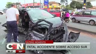 Violento accidente en Ñemby deja una joven fallecida