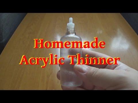Homemade Acrylic Thinner - English Subtitles