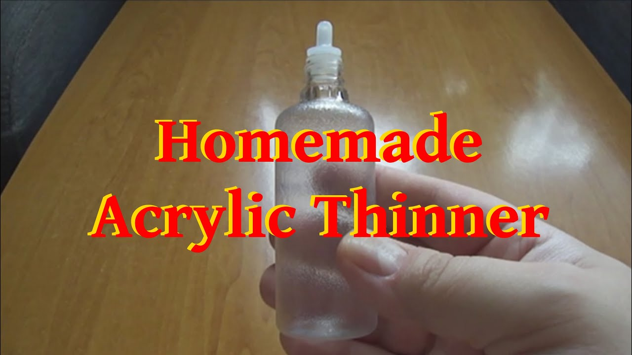 homemade acrylic thinner english subtitles youtube