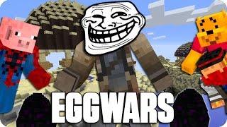 ¡TROLL TIME! EGGWARS | Minecraft Con Sara, Luh Y Macundra
