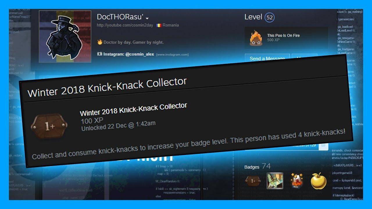 BADGE-UL SECRET de pe Steam | Winter 2018 Knick-Knack Collector Badge
