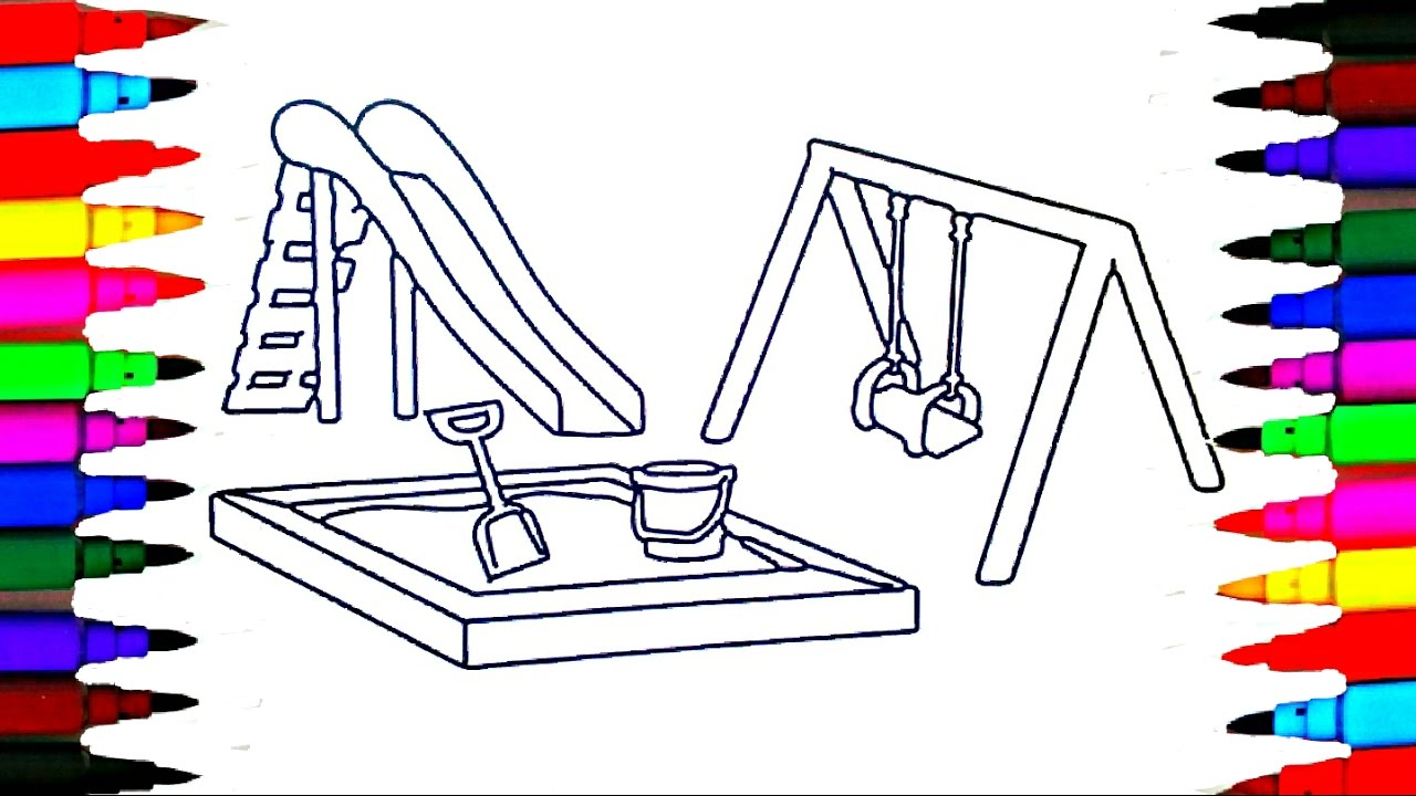 playground coloring pages # 9