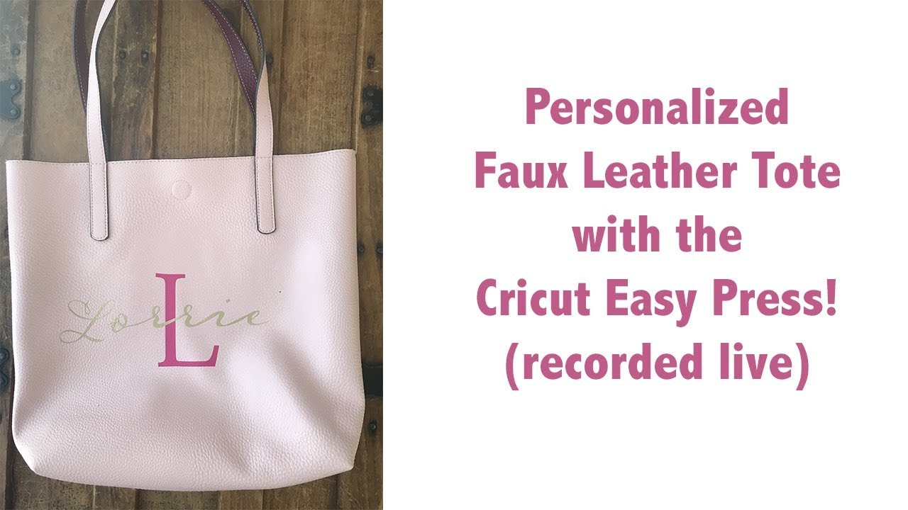 Applying Iron On A Walmart Quot Leather Like Quot Tote Bag With
