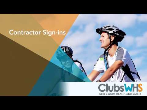 ClubsWHS - Contractor Sign-ins (Mobile)