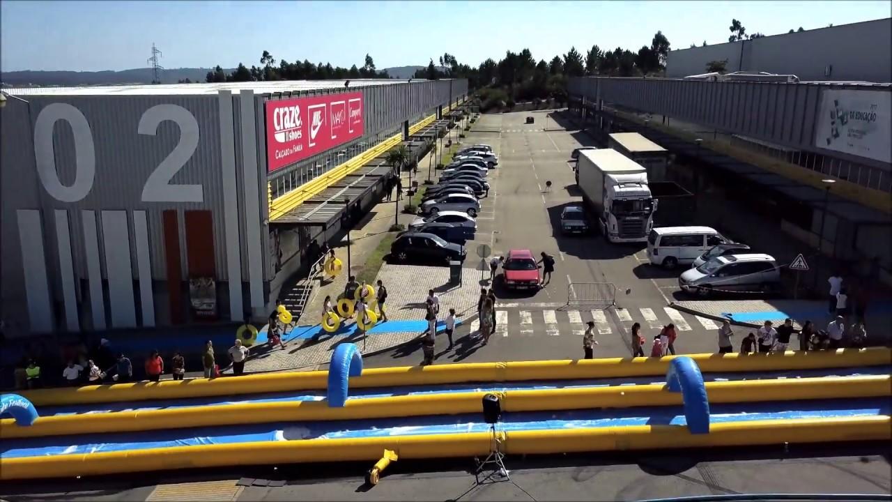 Drone Water Slide Festival Lago Discount Famalicao Portugal