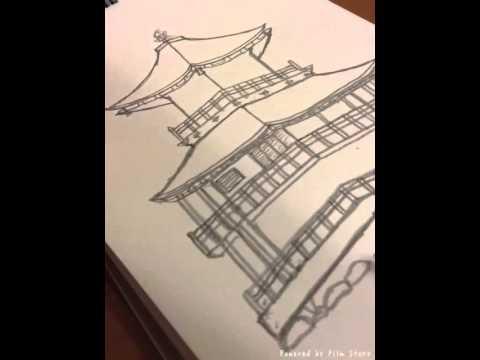 金閣寺を描いてみた Youtube